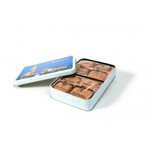 Chocolate Printded Biscuits Flat tin
