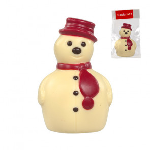 Snowman in finest belgian chocolate