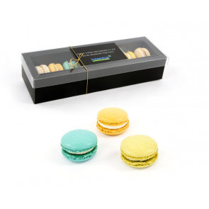 10 Macarons in Black Box